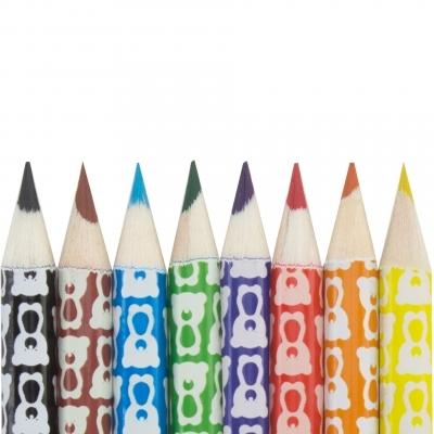 Teribear, sada 8 pastelek v papírovém tubusu